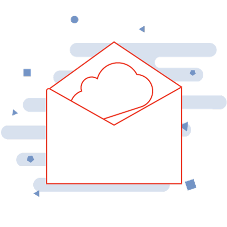 Document scanning services illustration for incoming mail and email digital mail room