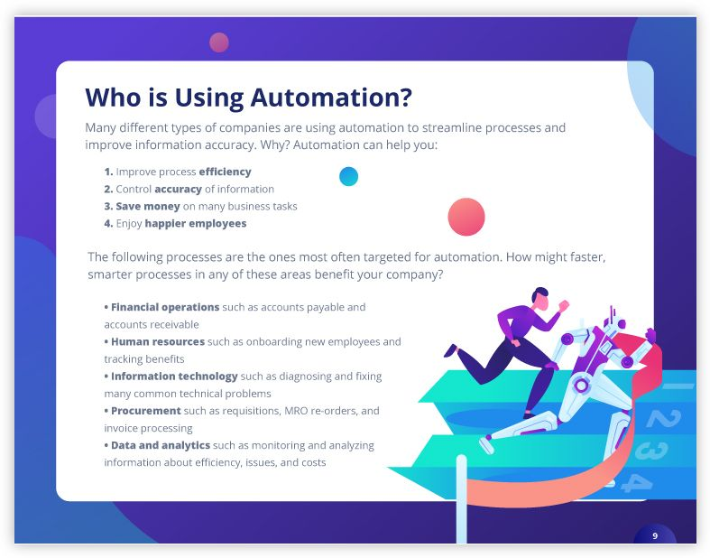 Who is using RPA tools for business process automation