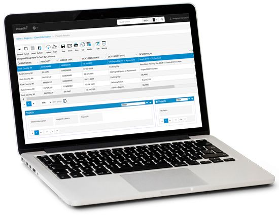 electronic forms software showing integration with document management software radix