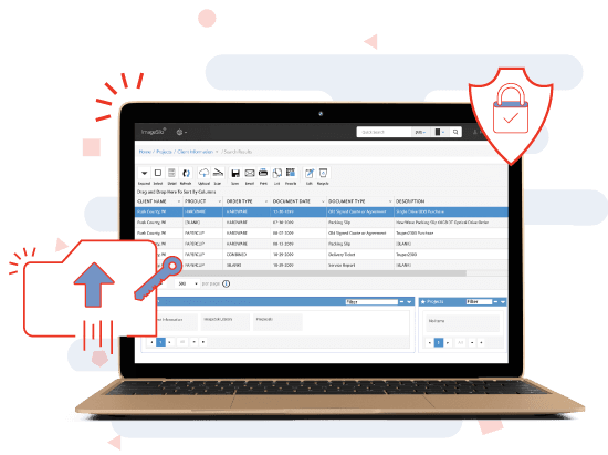 government document management system search screen